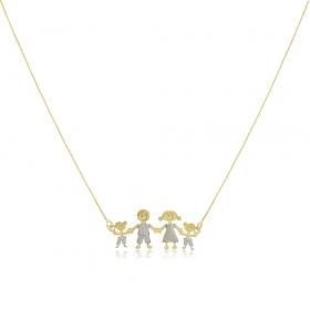 Collar Happy Family Gold