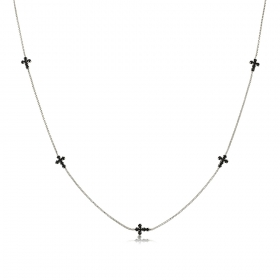 Collar Cruces Zirconia